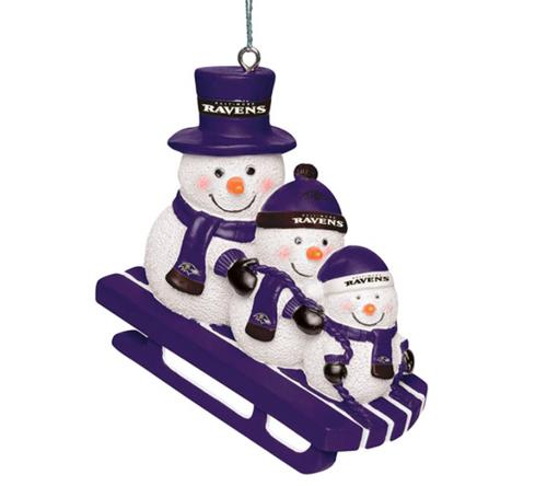 NFL Team Snowmen Sledding Ornament Choose Your Team
