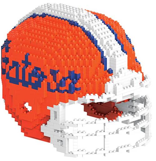 BRXLZ Team Helmet 3-D Construction Toy Florida Gators 1337 Pieces