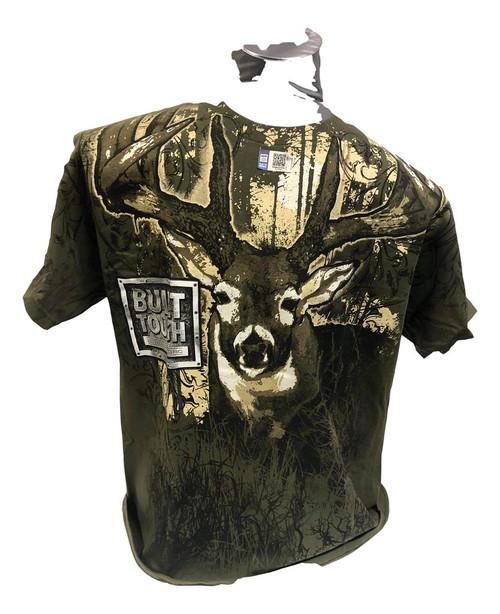 Built Ford Tough Camo With Deer T-Shirt (Medium)