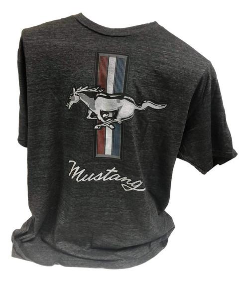 Built Ford Tough Black Mustang T-Shirt (XX-Large)