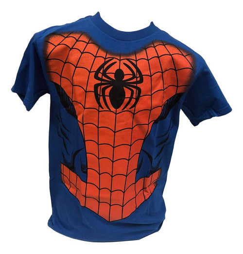Marvel Spiderman T-Shirt Blue (Large)
