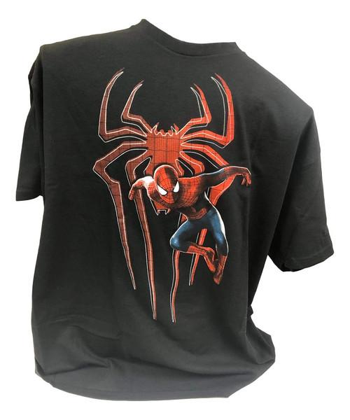 Marvel Spiderman T-Shirt Black (X-Large)