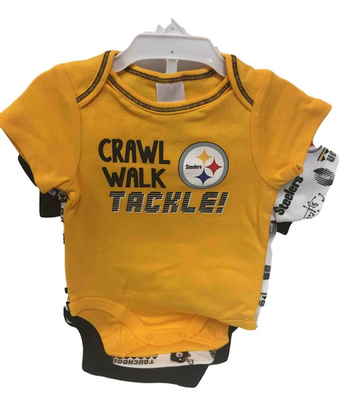 NFL Pittsburgh Steelers 3 Pack Bodysuit - Choose Your Size