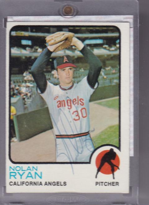 1973 topps Nolan Ryan auto PSA Certidfied  California Angels