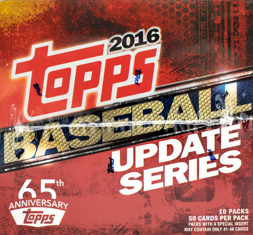 2016 Topps Baseball Update Series Jumbo Box