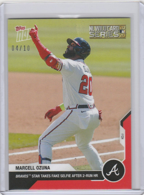 2020 Topps Now Parallel #347 MARCELL OZUNA ATLANTA BRAVES 4/10