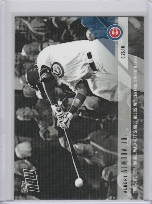 2018 Topps Now Platinum B&W #795BW Albert Almora Jr. Cubs 1/1