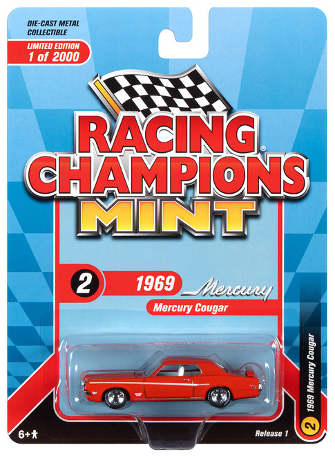 Racing Champions Mint RC012 SR 1 1969 Mercury Cougar Red