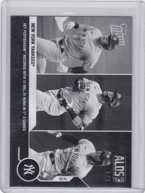 2020 Topps Now Platinum B&W #366BW-A Yankees Team HR 1/1