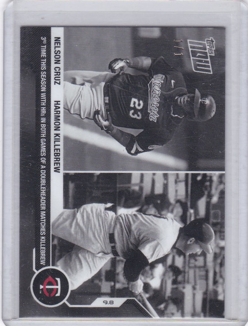 2020 Topps Now Platinum B&W #229BW-A Nelson Cruz Killebrew 1/1