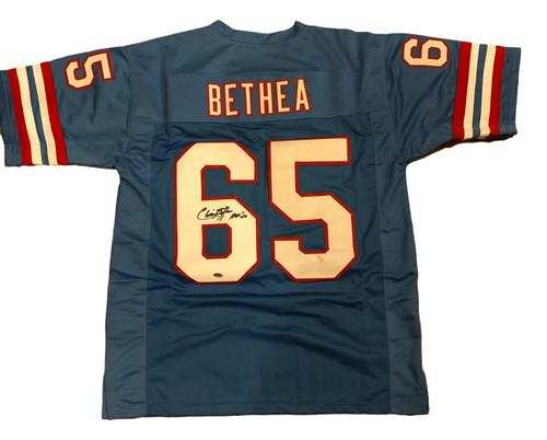 Elcin Bethea Autographed Houston Oilers Jersey - Leaf COA - HOF 2003