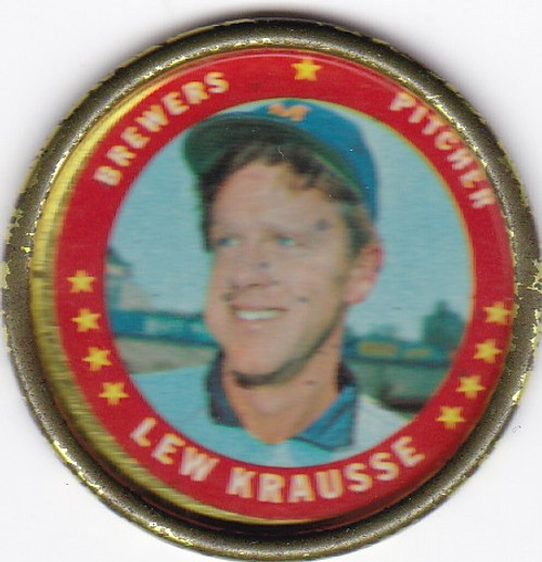 1971 Topps Coin #20 Lew Krausse -- Brewers