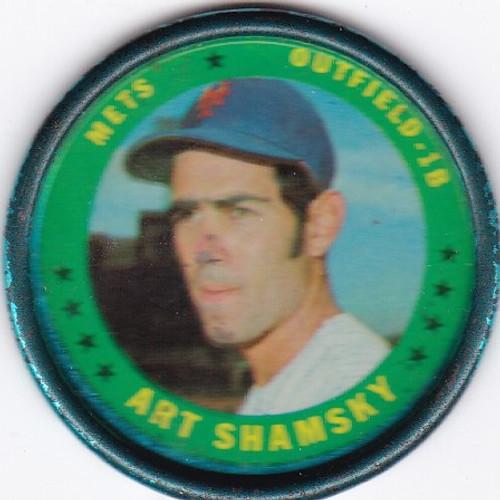1971 Topps Coins #43 Art Shamsky -- Mets