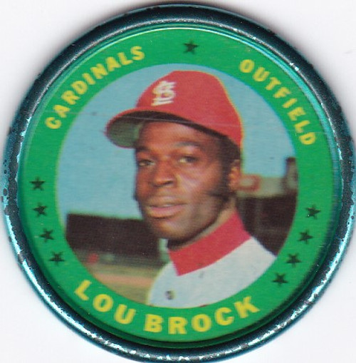 1971 Topps Coin #87 Lou Brock -- Cardinals