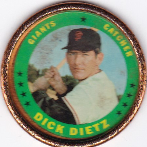 1971 Topps Coins #33 Dick Dietz -- Giants