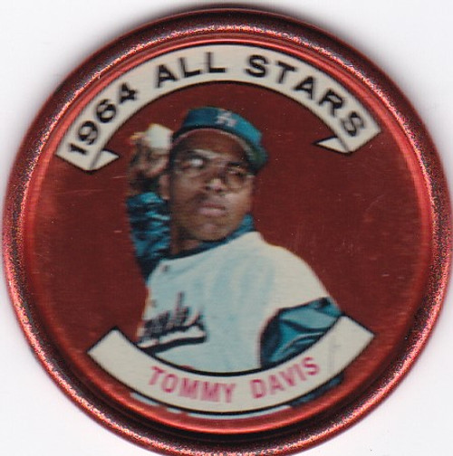 1964 Topps Coins Tommy Davis #153 -- Dodgers