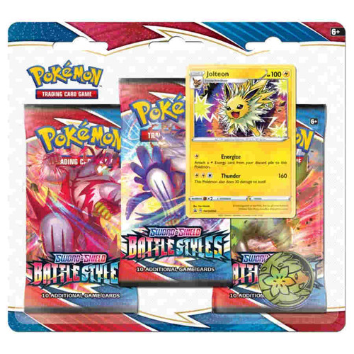 Pokemon Sword and Shield Battle Styles 3-Booster Blister Pack, Jolteon