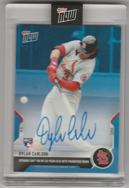 2021 Topps Now #6 Dylan Carlson St Louis Cardinals Autograph /49 Presale