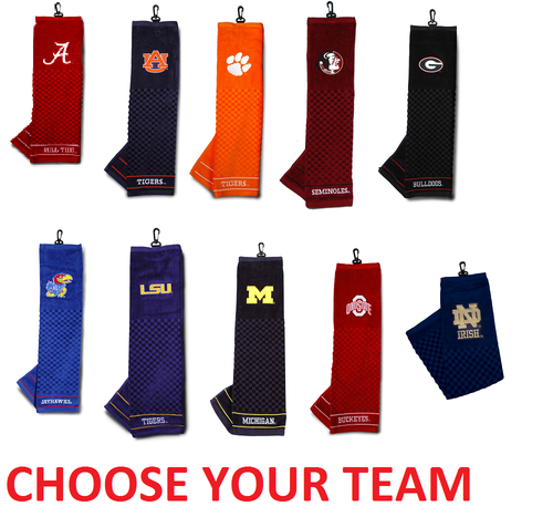 """Offically Licensed NCAA 16""""x22"""" Embroidered Golf Towel Choose Your Team"""