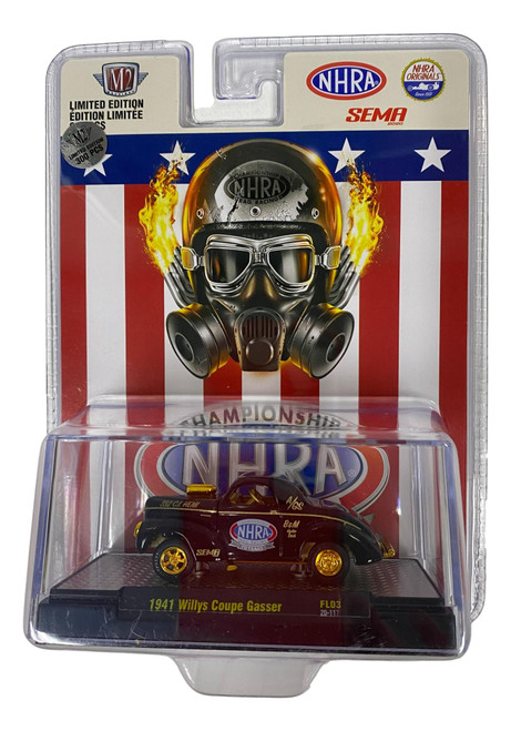 M2 Machines NHRA Drag Racing 1:64 1941 Willys Coupe Gasser SEMA R FL03 CHASE