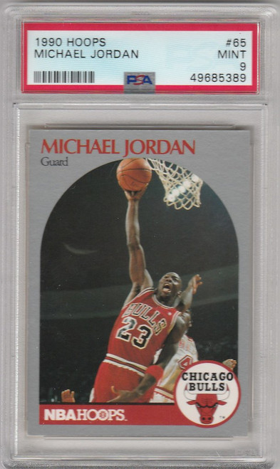 1990 Hoops Basketball #65 Michael Jordan Chicago Bulls PSA 9