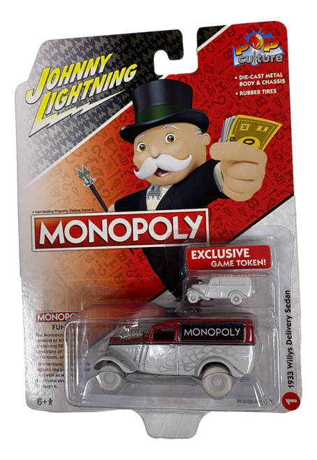Johnny Lightning JLPC003 Pop Culture 1933 Willys Delivery Sedan Monopoly CHASE