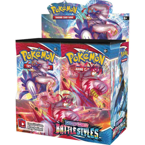 POKEMON TGC: SWORD AND SHIELD BATTLE STYLES BOOSTER DISPLAY FACTORY SEALED