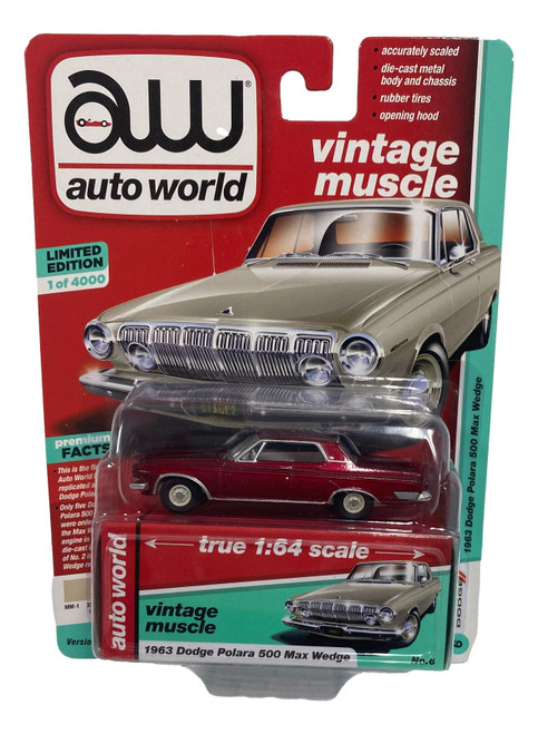 Auto World 64212 1:64 Vintage Muscle 1963 Dodge Polara 500 Max Series A CHASE
