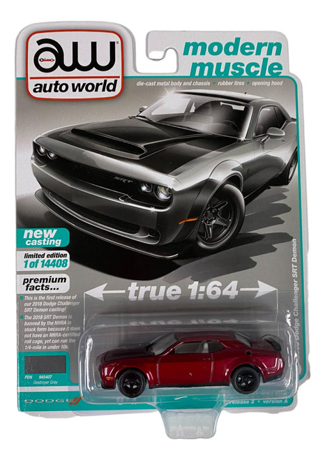 Auto World 64302 1:64 Modern Muscle 2018 Dodge Challenger SRT Series A CHASE