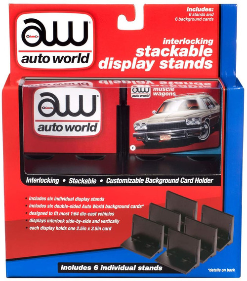 Auto World 6-Pack Interlocking Stackable Display Stands - 1:64 Scale