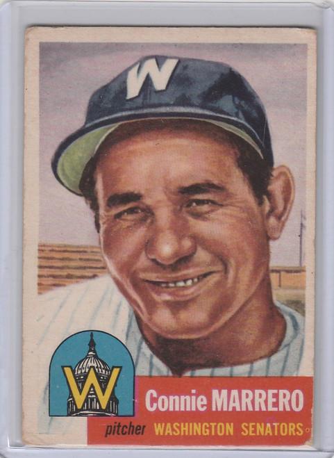 1953 Topps #13 Connie Marrero Washington Senators EX