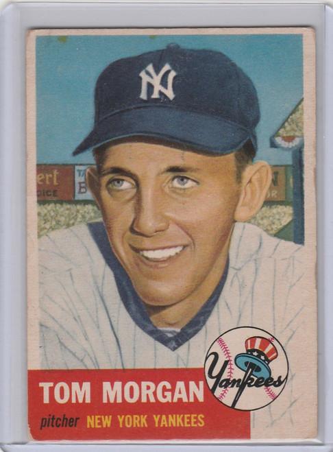 1953 Topps #132 Tom Morgan New York Yankees EX
