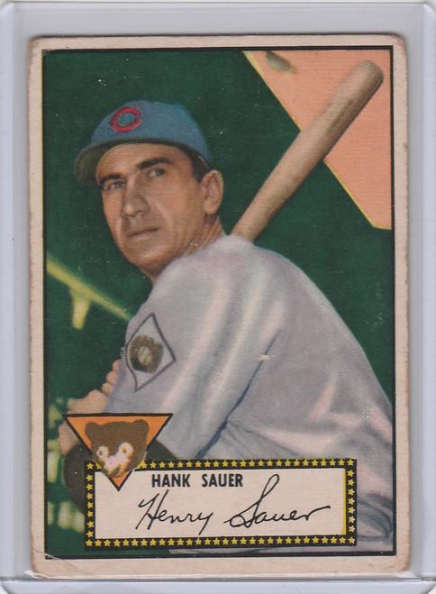 1952 Topps #35 Hank Sauer Chicago Cubs Black Back VGEX