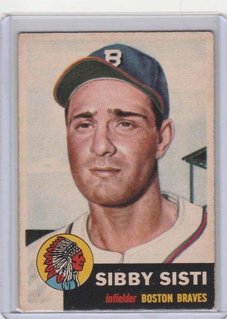 1953 Topps #124 Sibby Sisti Boston Braves EX