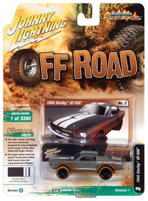 Johnny Lightning 1:64 Street Freaks Ver A 1966 Shelby GT-350 Primer Gray