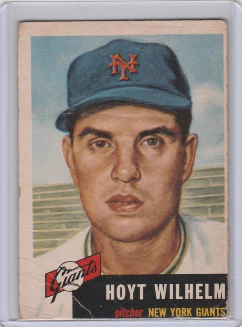 1953 Topps #151 Hoyt Wilhelm New York Giatns VG