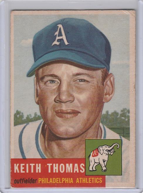 1953 Topps #129 Keith Thomas Philadelphia Athletics VG