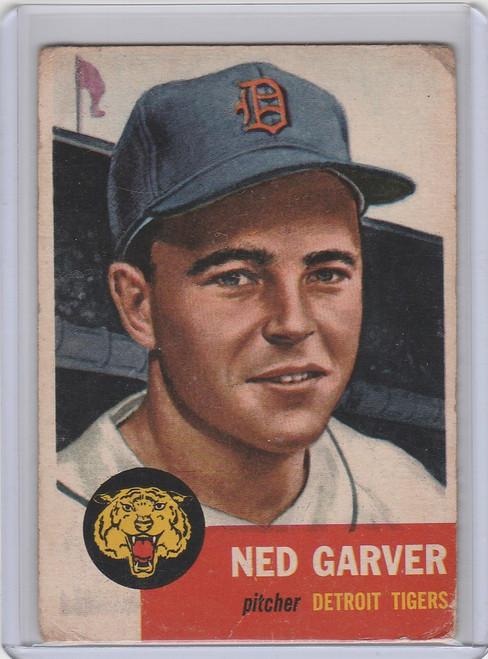 1953 Topps #112 Ned Garver Detroit Tigers VG