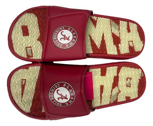 Alabama Crimson Tide Men's Gel Shower Sport Slide Flip Flop Sandals