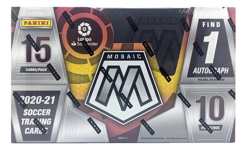 2020-21 Panini Mosaic La Liga Soccer Hobby Box
