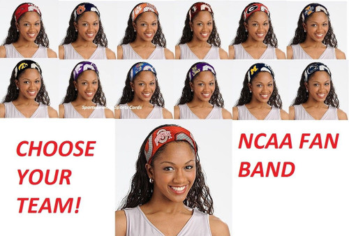 NCAA JERSEY FANBANDS ASSORTED TEAMS CHOOSE YOUR TEAM HEAD BAND FANBAND