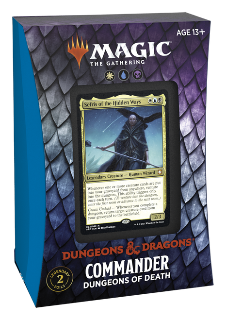 Magic The Gathering: ADVENTURES IN THE FORGOTTEN REALMS COMMANDER DUNGEONS OF DEATH