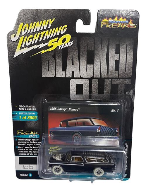 Johnny Lightning 1:64 Street Freaks Ver B 1955 Chevy Nomad Deep Dark Black CHASE