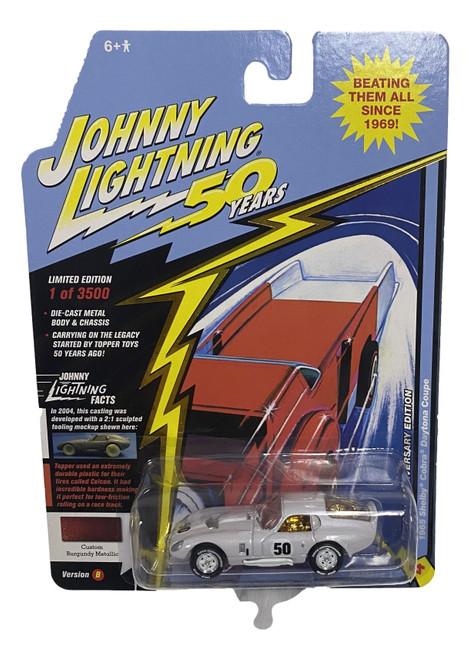 Johnny Lightning JLCG018 Classic Gold VER B 1965 Shelby Cobra Burgundy CHASE