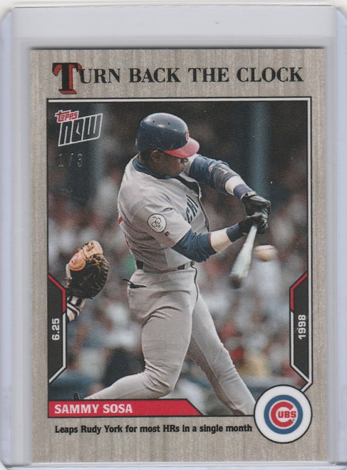 2021 Topps TURN BACK THE CLOCK ASH PARALLEL #86 SAMMY SOSA CHICAGO CUBS 1/3