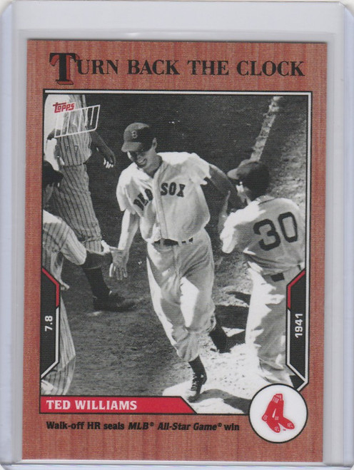 2021 Topps TURN BACK THE CLOCK CHERRY PARALLEL #99 TED WILLIAMS BOSTON RED SOX 2/7