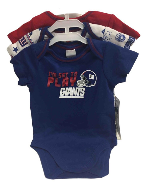 NFL New York Giants 3 Pack Bodysuit - Choose Your Size