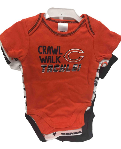 NFL Chicago Bears 3 Pack Bodysuit - Choose Your Size