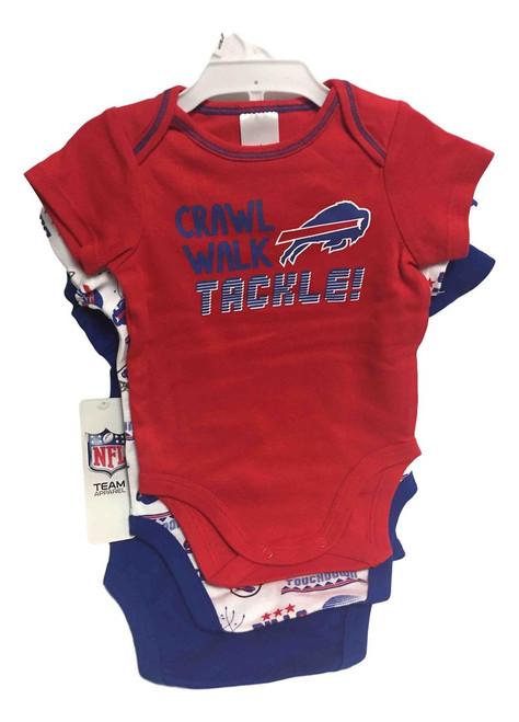 NFL Buffalo Bills 3 Pack Bodysuit - Choose Your Size