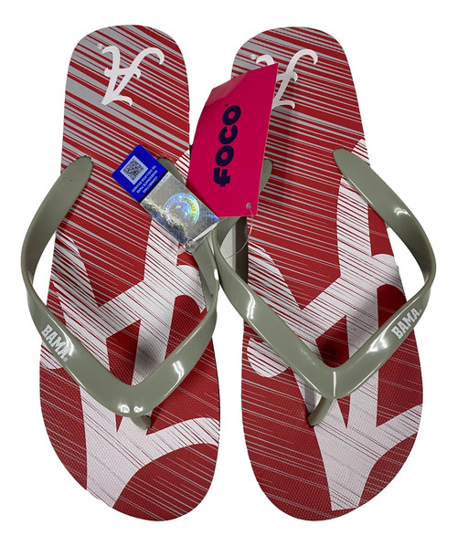 Alabama Crimson TIde Men's Diagonal Unisex Beach Flip Flop Sandals